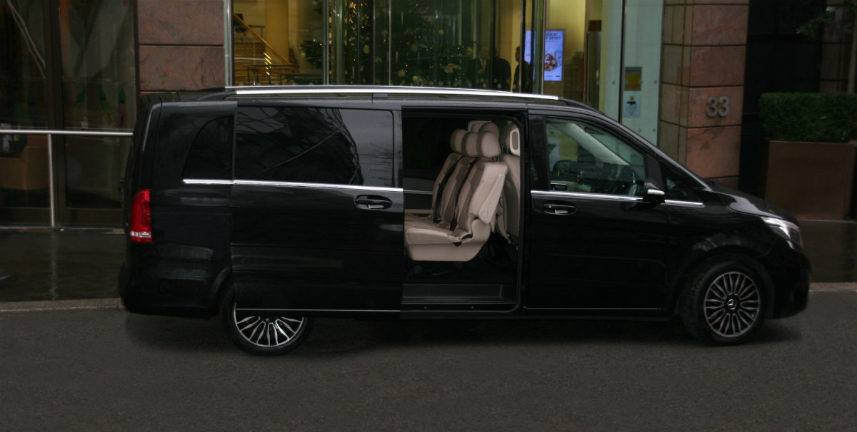 Chauffeur driven mercedes viano or V class prices